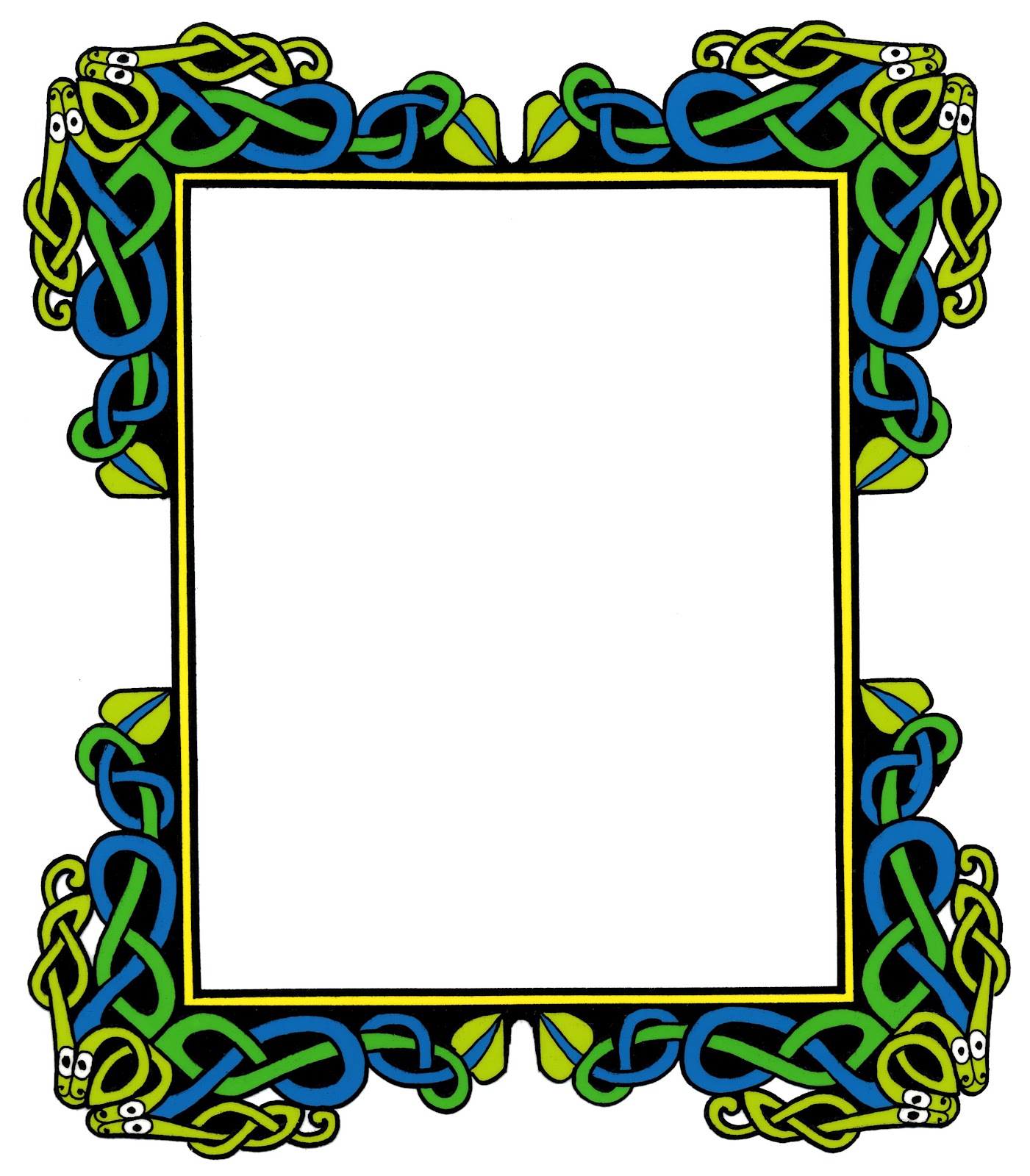 1401x1600 Celtic Border Cliparts