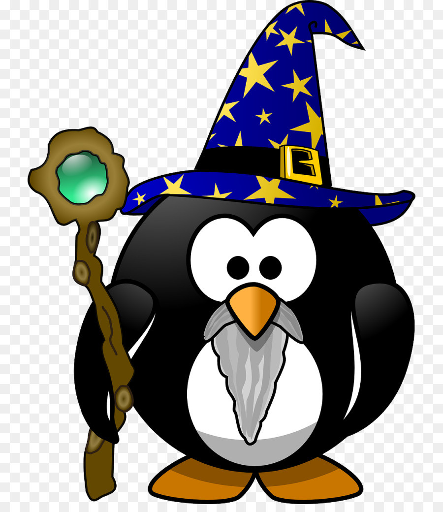 900x1040 Penguin Gandalf Magician Clip Art Trick Or Treat Png Download
