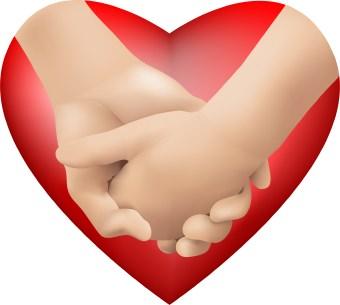340x305 Hand Heart Clipart