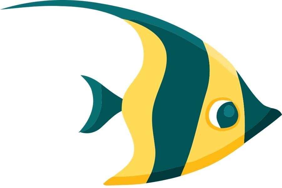 900x600 Kissing Fish Clip Art Cartoon Poster Illustration Vector Cartoon