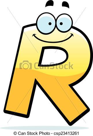322x470 Cartoon Letter R. A Cartoon Illustration Of A Letter R Clip Art