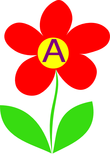 426x598 Collection Of Flower Letter Clipart High Quality, Free