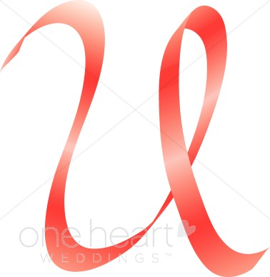 378x388 Letter U Clip Art Pink Ribbon Alphabet
