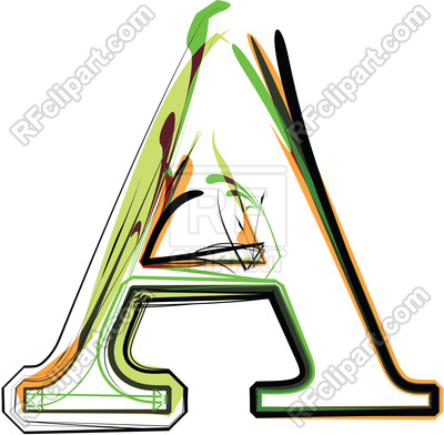 400x392 Organic Type Letter A Royalty Free Vector Clip Art Image