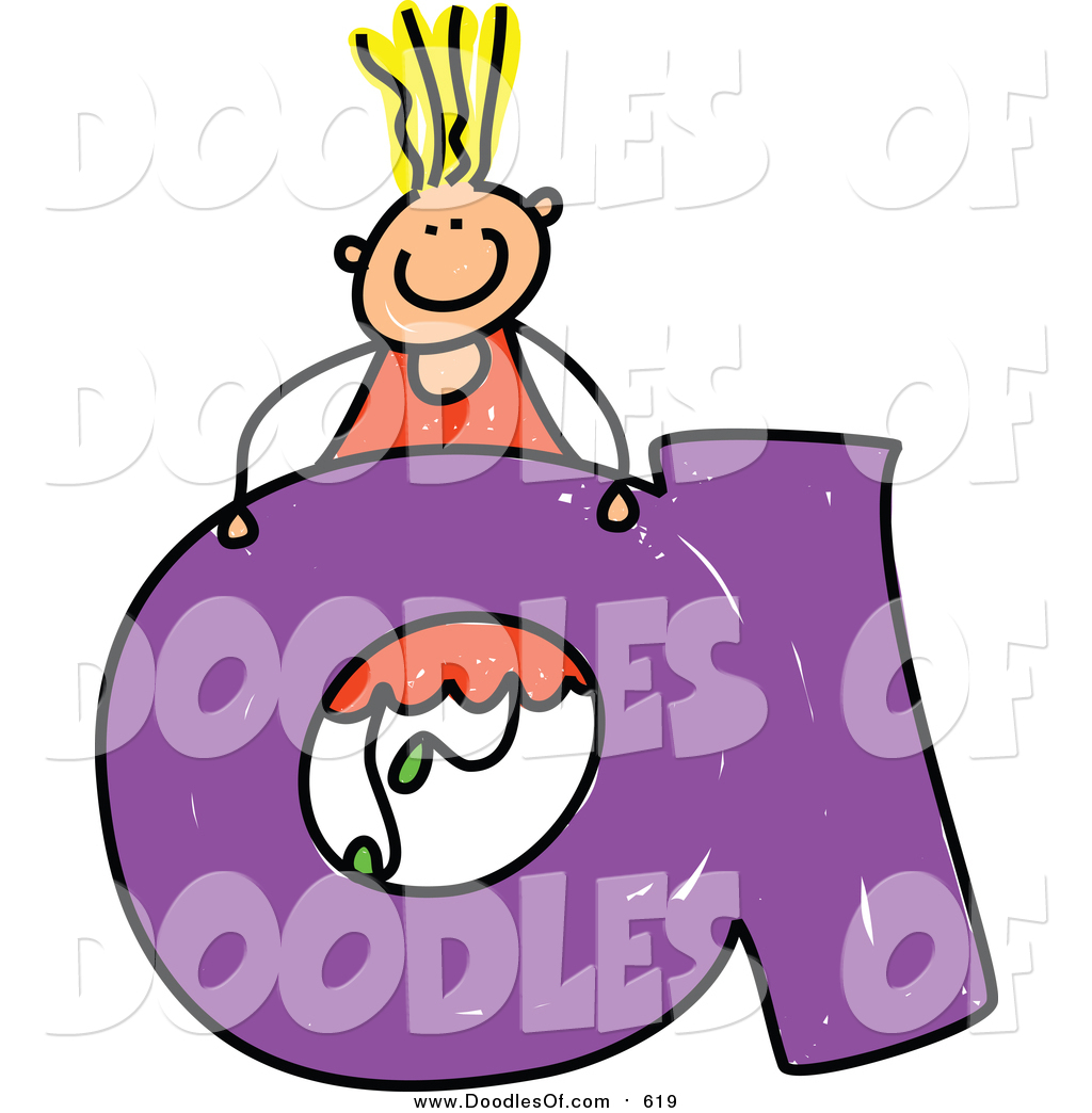 1024x1044 Vector Clipart Of A Happy Blond Caucasian Girl Behind A Lowercase