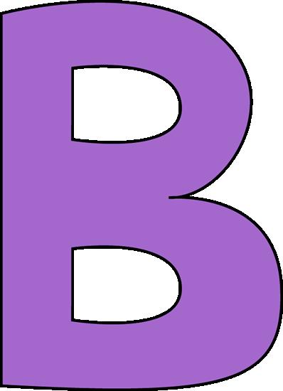 398x550 B Purple Letter B Clip Art Image