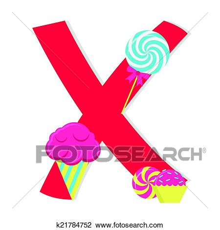 450x470 Clipart X Clipart Of Letter X From Candy Alphabet K21784752 Search