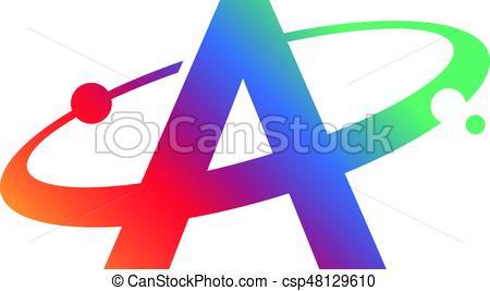 450x267 An Amazing Letter A Symbol Inside Swoosh Circle Vector Clip Art