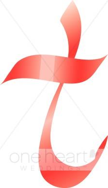 223x388 Clipart Letter T Pink Ribbon Alphabet