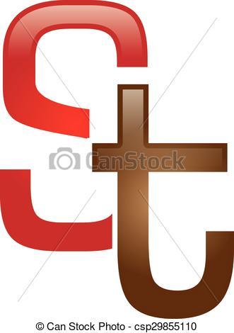 331x470 S Amp T Letter Logo. Logo Template.