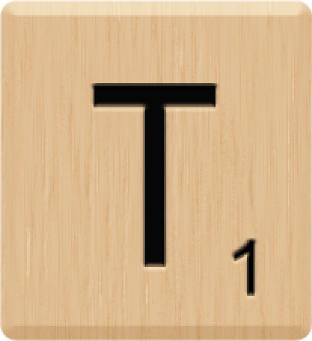 640x699 Scrabble Clipart Letter T
