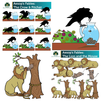 350x350 Aesop's Fables Clip Art Bundle By Studio Devanna Tpt