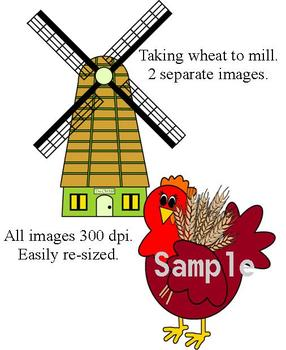 286x350 The Little Red Hen Clip Art Collection