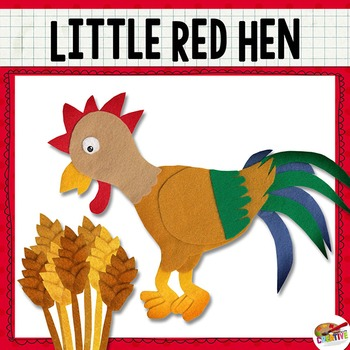 350x350 The Little Red Hen {Felt Story Set} By Keeping Life Creative Tpt