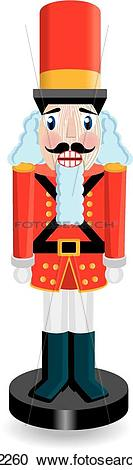 133x470 Red And Green Nutcracker Clipart