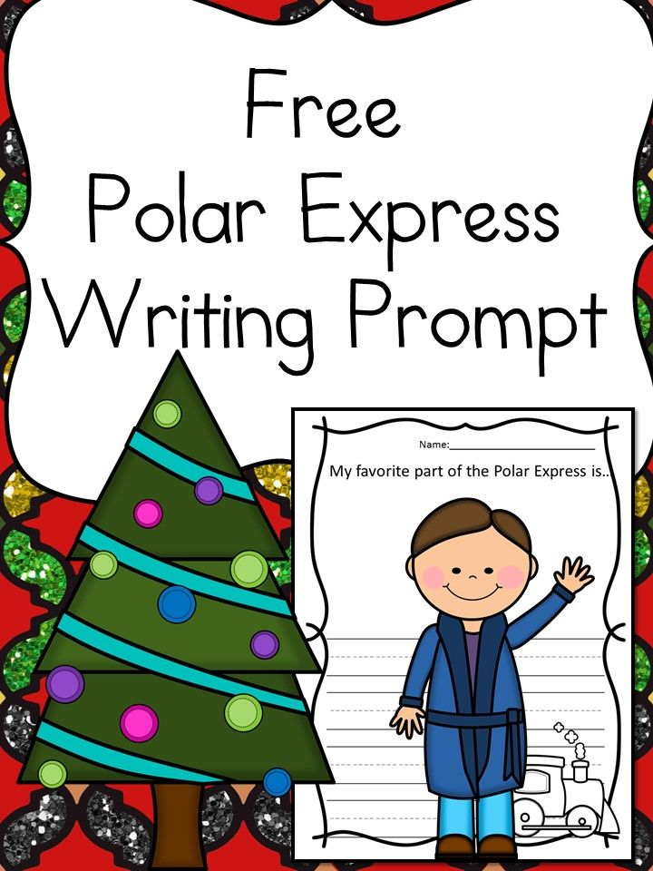 720x960 Free Polar Express Writing Prompt For Kindergarten Prompts