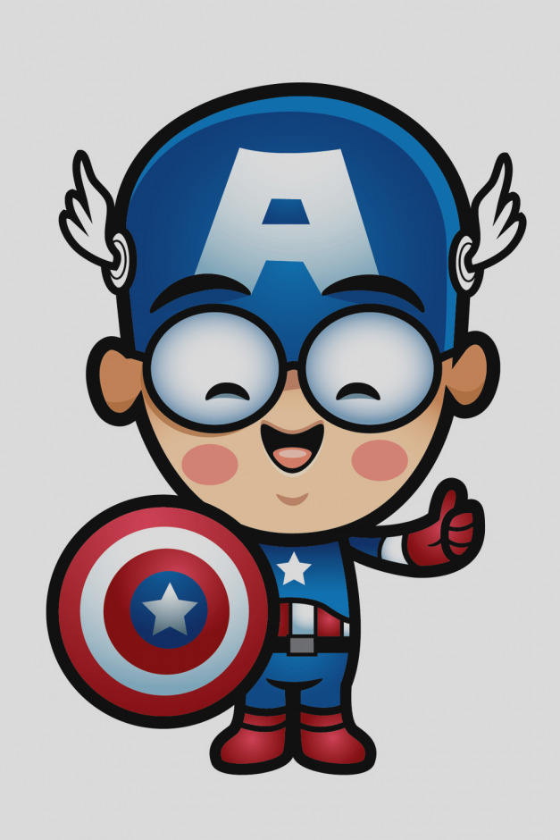627x940 Gallery Of Captain America Clip Art The 5 Of Aw