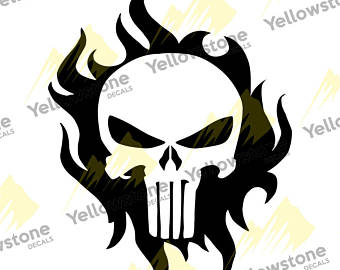 340x270 Punisher Truck Decal Etsy