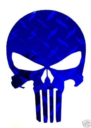 356x500 Punisher With American Flag Decal Large 10 Punisher