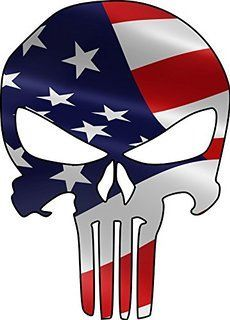 230x320 Shell Punisher Skull Racing Sticker Automotive Stickers