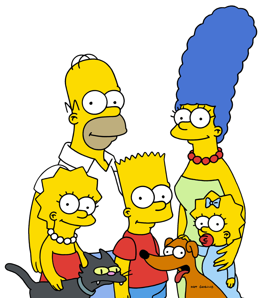 1059x1139 The Simpsons Png Clipart Png Mart