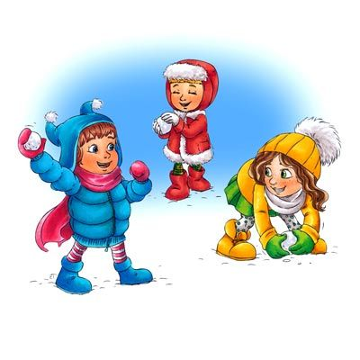 400x400 Snow Clipart Snowball Fight