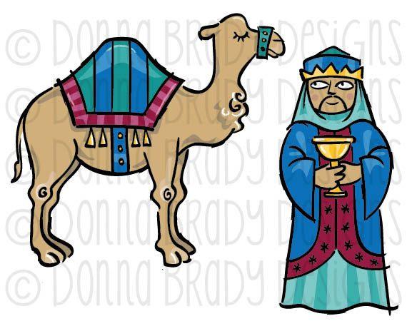 570x450 Jewel Tone Christmas Nativity Three Kings Camel By