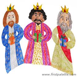 250x250 Paper Three Kings Chain Craft Kids' Crafts