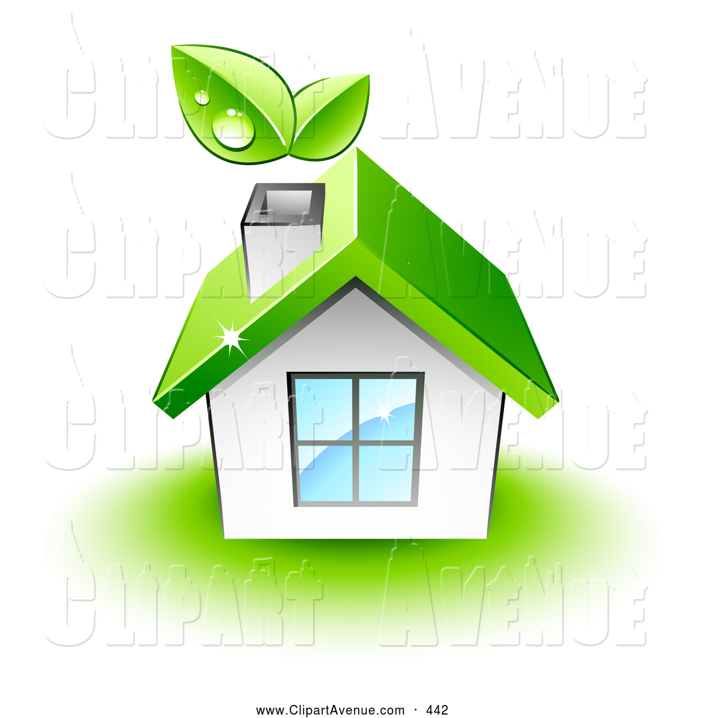 1024x1044 Avenue Clipart Of A White House With A Green Roof By Beboy