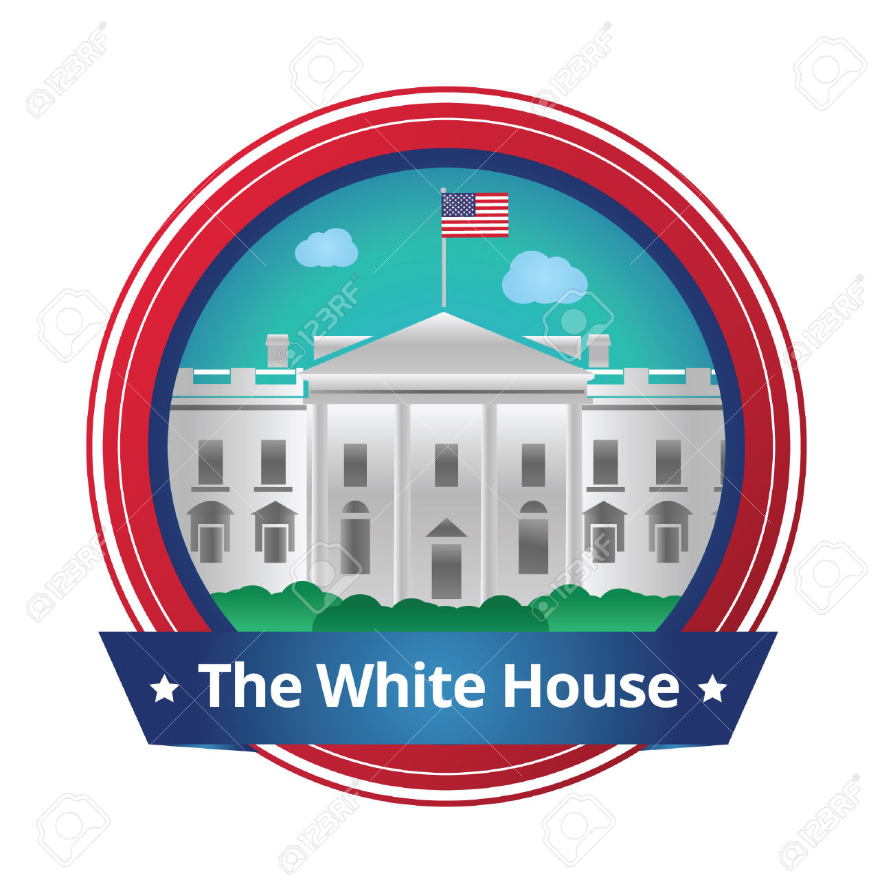 1300x1300 White House Clipart Government Official
