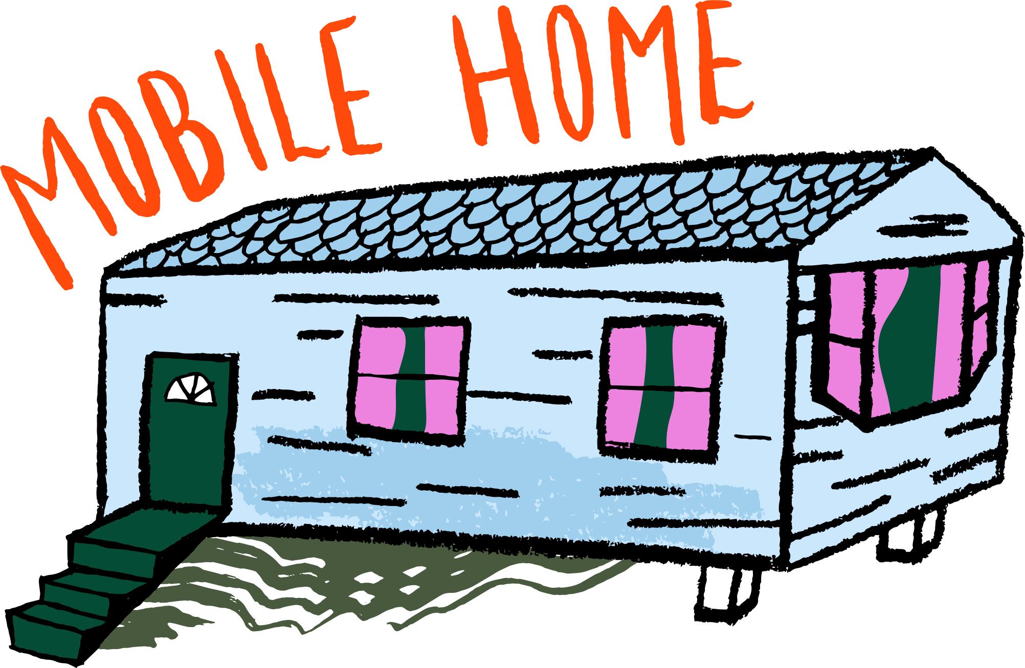 2004x1307 Clipart Of Mobile Homes Jaxstormrealverseus, Mobile Home Art
