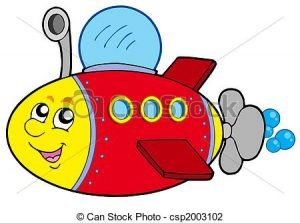 300x223 Cartoon Submarine Clipart Cartoon Submarine On White Background