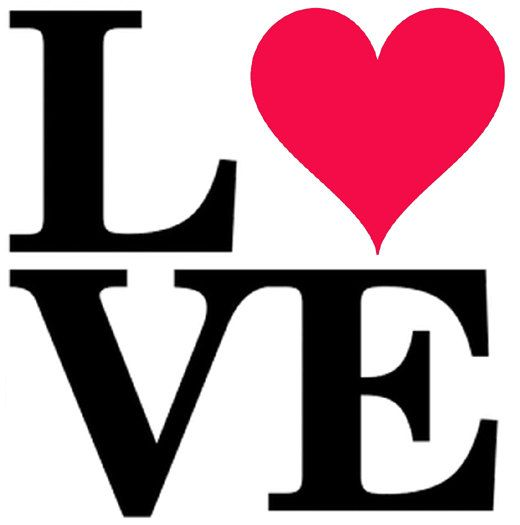520x525 Love Stencil, Heart, Word Stencil, Art, Wall, Painting