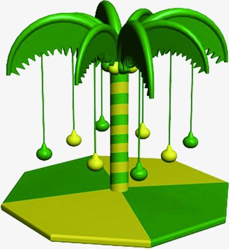 458x497 Green Palm Cartoon Theme Park, Green, Coco, Cartoon Png Image