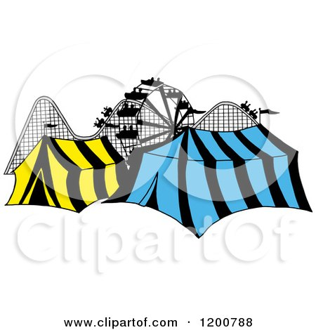 450x470 Royalty Free (Rf) Clipart Of Theme Parks, Illustrations, Vector