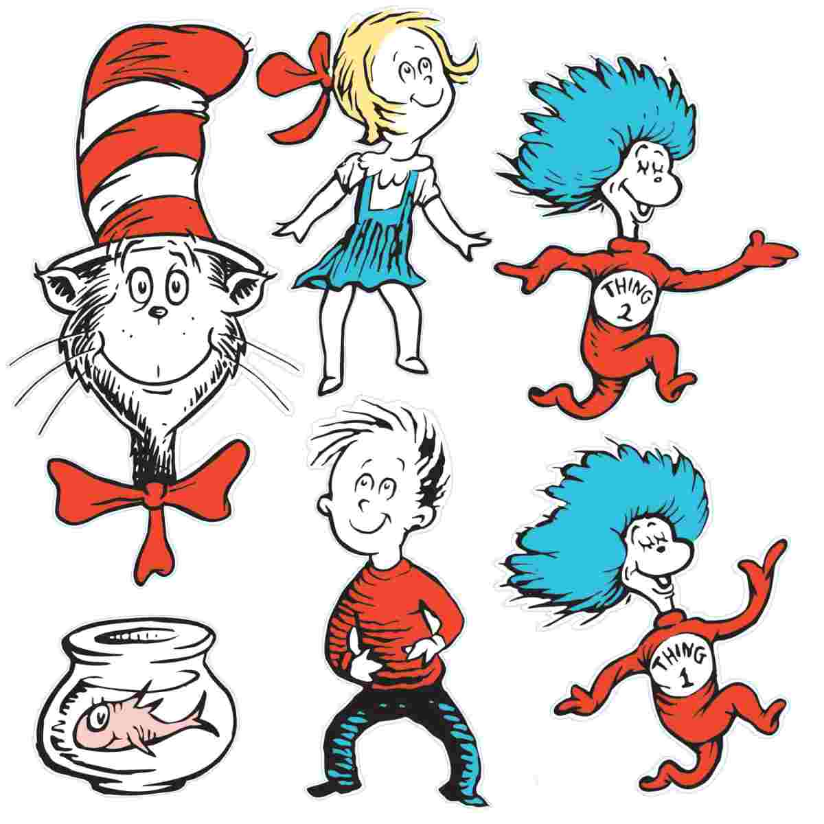 Thing 1 Thing 2 Clipart at GetDrawings.com | Free for personal use ...