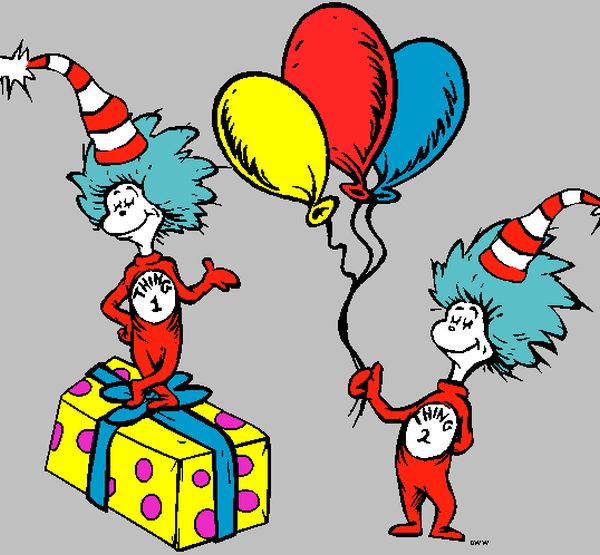 600x555 Dr Seuss Baby Shower Thing 1 And 2