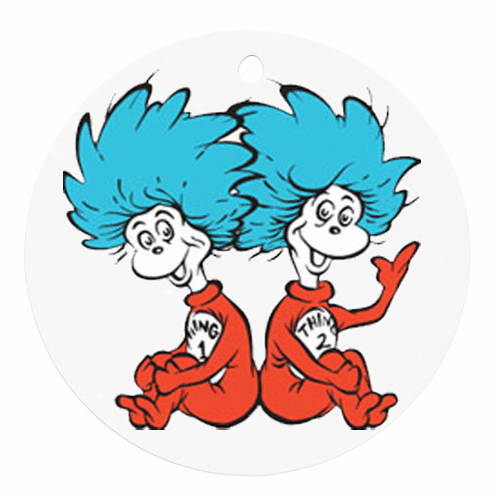 500x500 Thing One And Thing Two Clip Art Ornaments Thing 1 Thing 2