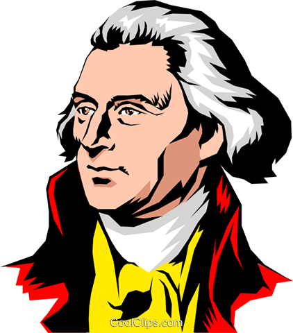 422x480 Thomas Jefferson Royalty Free Vector Clip Art Illustration