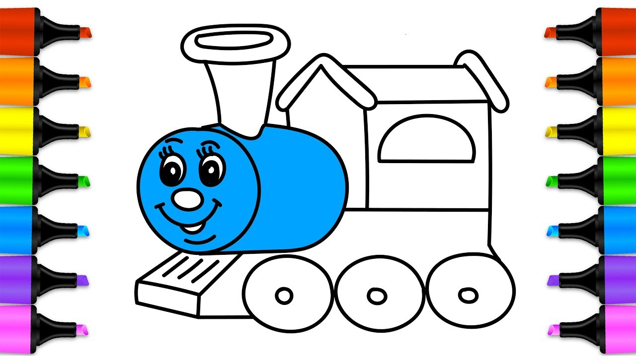 1280x720 How To Draw Train Thoma With Cartoon Toma And Friends Video