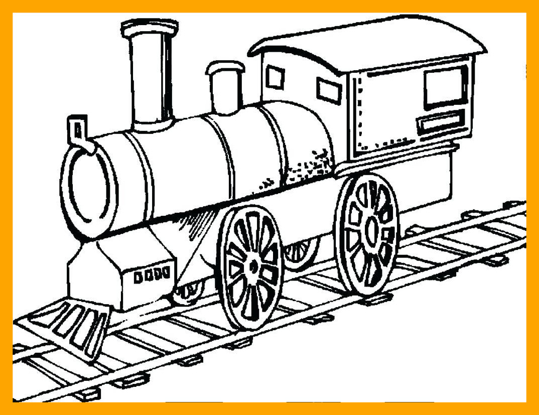 1074x827 Awesome Train Coloring Pages Printable For Style And Train