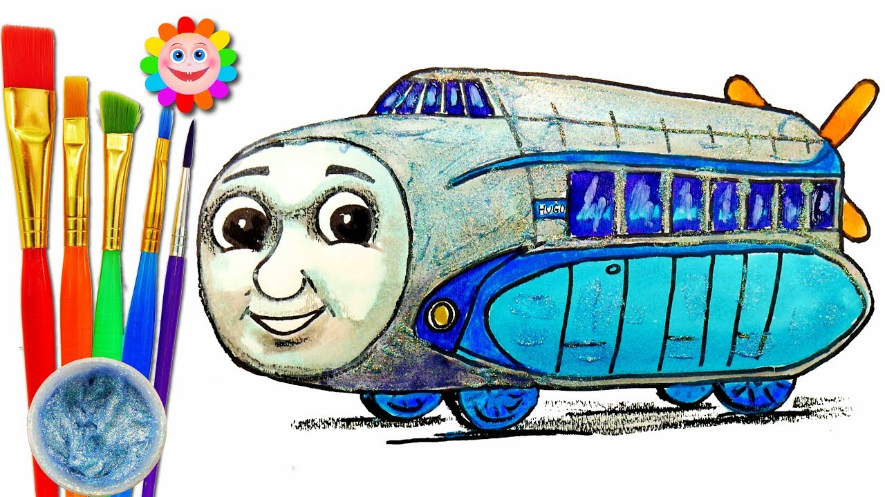 1280x720 Coloring With Thomas The Train How To Draw Hugo