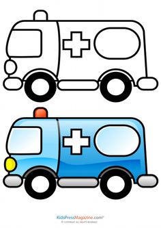 236x333 Interactive Magazine Car Ambulance Coloring Pages Vehicles