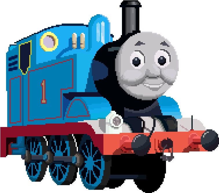 756x664 Thomas The Tank Engine Pixel Art By Gooberplease