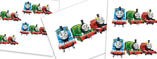 610x229 Thomas The Train And Friends Cut Outs