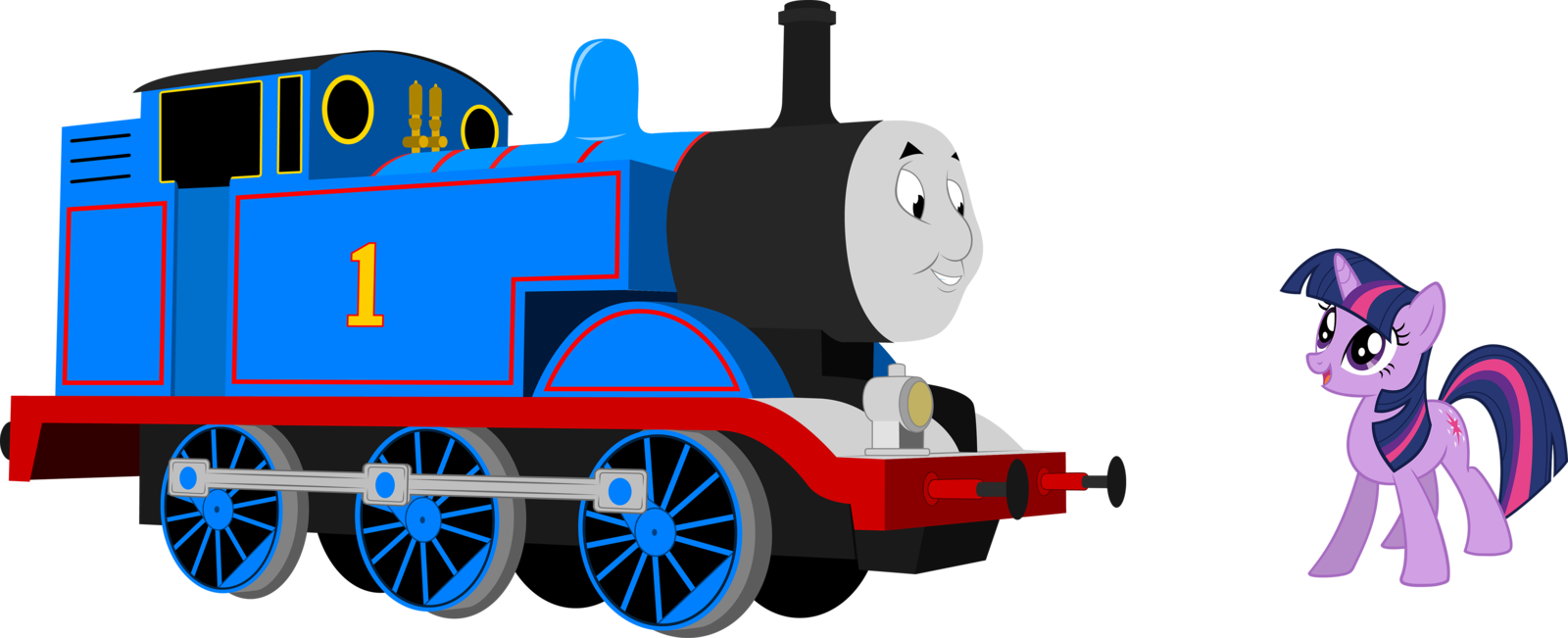 Thomas the train and friends clipart at getdrawings free for 1600x651 twilight meet thomas by artthriller94 on deviantart m4hsunfo