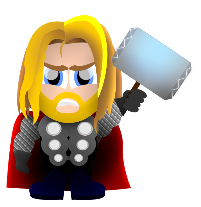 643x662 Thor Clipart Cartoon Pencil And In Color Thor Png
