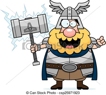 450x403 Cartoon Thor Idea. A Cartoon Illustration Of Thor