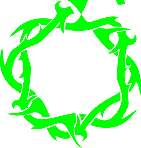 564x593 Green Thorn Clip Art
