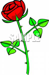 195x300 Pictures Rose With Thorns Clip Art,
